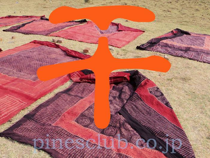 アジュラックはインドの大地で天日干しされる