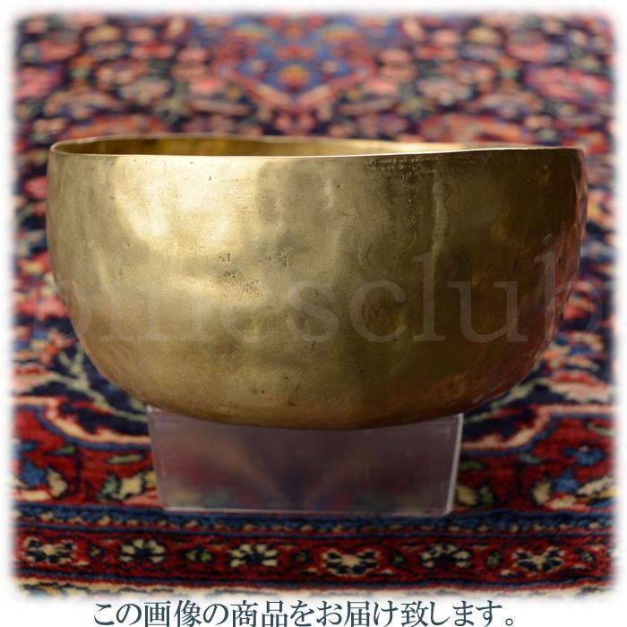 ヴィンテージ シンギングボウル 直径約17cm 重量約871g 真鍮叩き出しの素朴なデザイン 木製スティック付 MSB-003