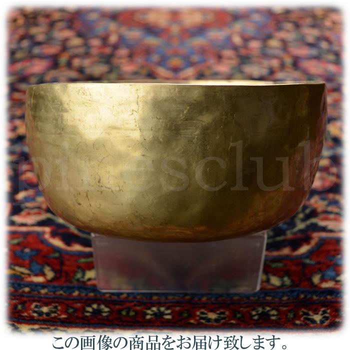 ヴィンテージ シンギングボウル 直径約17.5cm 重量約942g 真鍮叩き出しの素朴なデザイン 木製スティック付 MSB-006