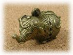 インド先住民族ドクラの鋳造工芸品 ミニ動物 ゾウ MTB-1003