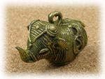 インド先住民族ドクラの鋳造工芸品 ミニ動物 ゾウ MTB-1004