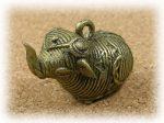 インド先住民族ドクラの鋳造工芸品 ミニ動物 ゾウ MTB-1005