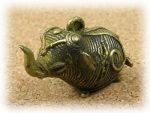 インド先住民族ドクラの鋳造工芸品 ミニ動物 ゾウ MTB-1007