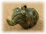 インド先住民族ドクラの鋳造工芸品 ミニ動物 ゾウ MTB-1008