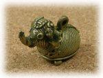 インド先住民族ドクラの鋳造工芸品 ミニ動物 ゾウ MTB-1009