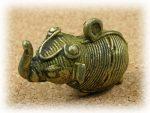 インド先住民族ドクラの鋳造工芸品 ミニ動物 ゾウ MTB-1012
