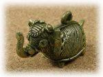 インド先住民族ドクラの鋳造工芸品 ミニ動物 ゾウ MTB-1013