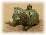 インド先住民族ドクラの鋳造工芸品 ミニ動物 ゾウ MTB-1014