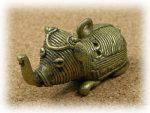 インド先住民族ドクラの鋳造工芸品 ミニ動物 ゾウ MTB-1016