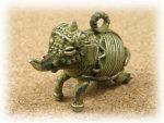 インド先住民族ドクラの鋳造工芸品 ミニ動物 ゾウ MTB-1017