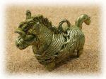 インド先住民族ドクラの鋳造工芸品 ミニ動物 ウマ MTB-1031