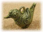 インド先住民族ドクラの鋳造工芸品 ミニ動物 トリ MTB-1058
