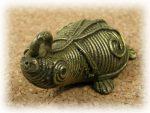 インド先住民族ドクラの鋳造工芸品 ミニ動物 カメ MTB-1067