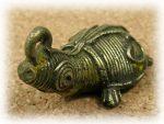 インド先住民族ドクラの鋳造工芸品 ミニ動物 カメ MTB-1068