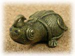 インド先住民族ドクラの鋳造工芸品 ミニ動物 カメ MTB-1069