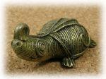 インド先住民族ドクラの鋳造工芸品 ミニ動物 カメ MTB-1070