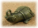 インド先住民族ドクラの鋳造工芸品 ミニ動物 カメ MTB-1071