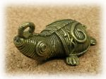 インド先住民族ドクラの鋳造工芸品 ミニ動物 カメ MTB-1072