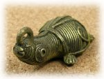 インド先住民族ドクラの鋳造工芸品 ミニ動物 トリ MTB-1173