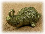 インド先住民族ドクラの鋳造工芸品 ミニ動物 カメ MTB-1174