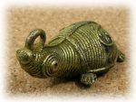 インド先住民族ドクラの鋳造工芸品 ミニ動物 カメ MTB-1075