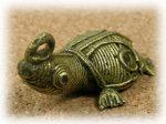 インド先住民族ドクラの鋳造工芸品 ミニ動物 カメ MTB-1076
