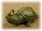 インド先住民族ドクラの鋳造工芸品 ミニ動物 カメ MTB-1077
