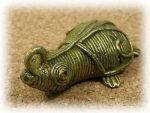 インド先住民族ドクラの鋳造工芸品 ミニ動物 カメ MTB-1078