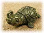 インド先住民族ドクラの鋳造工芸品 ミニ動物 カメ MTB-1081