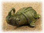 インド先住民族ドクラの鋳造工芸品 ミニ動物 カメ MTB-1082