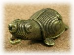 インド先住民族ドクラの鋳造工芸品 ミニ動物 カメ MTB-1083