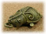 インド先住民族ドクラの鋳造工芸品 ミニ動物 カメ MTB-1084