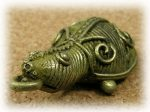 インド先住民族ドクラの鋳造工芸品 ミニ動物 カメ MTB-1085