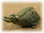 インド先住民族ドクラの鋳造工芸品 ミニ動物 カメ MTB-1086