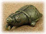 インド先住民族ドクラの鋳造工芸品 ミニ動物 カメ MTB-1087