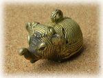 インド先住民族ドクラの鋳造工芸品 ミニ動物 ゾウ MTB-1150