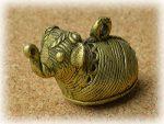 インド先住民族ドクラの鋳造工芸品 ミニ動物 ゾウ MTB-1153