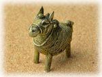 インド先住民族ドクラの鋳造工芸品 ミニ動物 ウマ MTB-1154