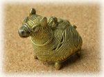 インド先住民族ドクラの鋳造工芸品 ミニ動物 ラクダ MTB-1160