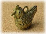 インド先住民族ドクラの鋳造工芸品 ミニ動物 トリ MTB-1172