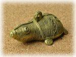 インド先住民族ドクラの鋳造工芸品 ミニ動物 カメ MTB-1175