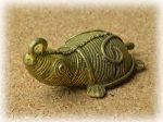 インド先住民族ドクラの鋳造工芸品 ミニ動物 カメ MTB-1180