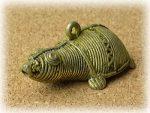 インド先住民族ドクラの鋳造工芸品 ミニ動物 カメ MTB-1182