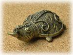 インド先住民族ドクラの鋳造工芸品 ミニ動物 カメ MTB-1184