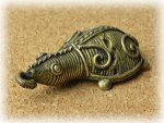 インド先住民族ドクラの鋳造工芸品 ミニ動物 カメ MTB-1185