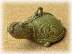 インド先住民族ドクラの鋳造工芸品 ミニ動物 カメ MTB-1186