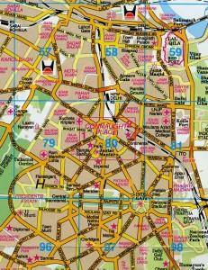 デリーの地図