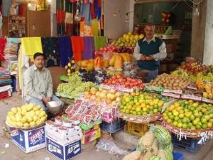 インドの果物屋