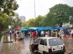 インド、雨のコンノートプレイス