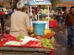 インドの野菜スティック売り